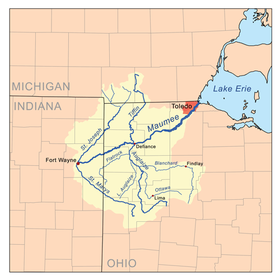 Note the St. Marys and its source in Ohio.