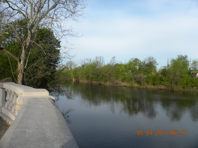 The St. Marys River viewed from the Thieme Drive Overlook.