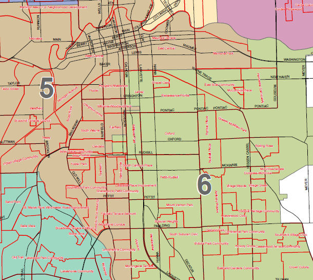 City Council - 5th and 6th districts.