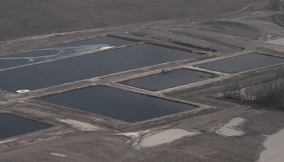 Manure pits filled with waste from the nearby CAFO